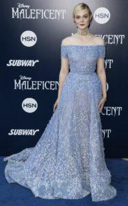 Эль Фаннинг на мировой премьере фильма «Малефисента» в Лос-Анджелесе, 28 мая 2014 г.