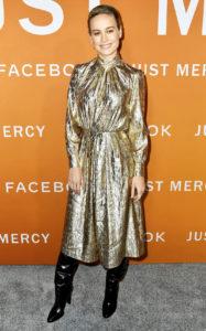 Бри Ларсон на показе фильма «Просто помиловать» в Лос-Анджелесе, 6 января 2020 г.