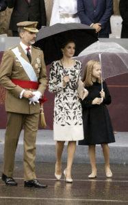 Король Фелипе VI, Королева Летиция на военном параде в честь Национального дня в Мадриде, 12 октября 2016 г.