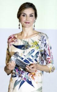 Королева Летиция на Национальной премии моды в Музее дель Трайе в Мадриде, 21 июля 2016 г.