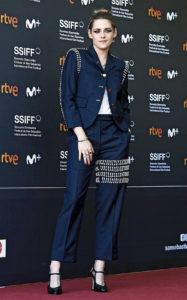 Кристен Стюарт на премьере фильма «Опасная роль Джин Сиберг» во время 67-го Международного кинофестиваля в Сан-Себастьяне, 20 сентября 2019 г.