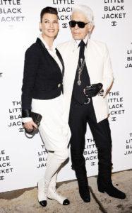 Линда Евангелиста, Карл Лагерфельд на мероприятии Chanel's: The Little Black Jacket Event в Нью-Йорке, 6 июня 2012 г.