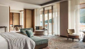 Спальня в Люксе Suite One на курорте One&Only Portonovi в Черногории