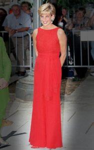 Диана, принцесса Уэльская на гала-ужине по сбору средств для американского Красного Креста