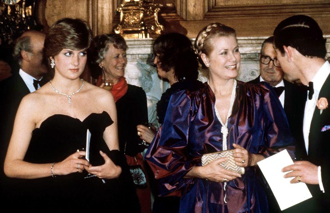 Леди Диана Спенсер, принц Уэльский и принцесса Монако Грейс на концерте по сбору средств в Goldsmiths Hall