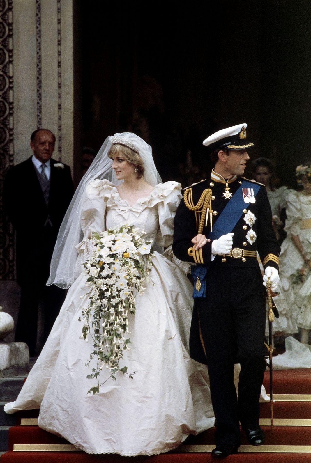 Принц Чарльз и леди Диана Спенсер в соборе Святого Павла в Лондоне