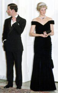 Принц и принцесса Уэльские в Германии на вечере.