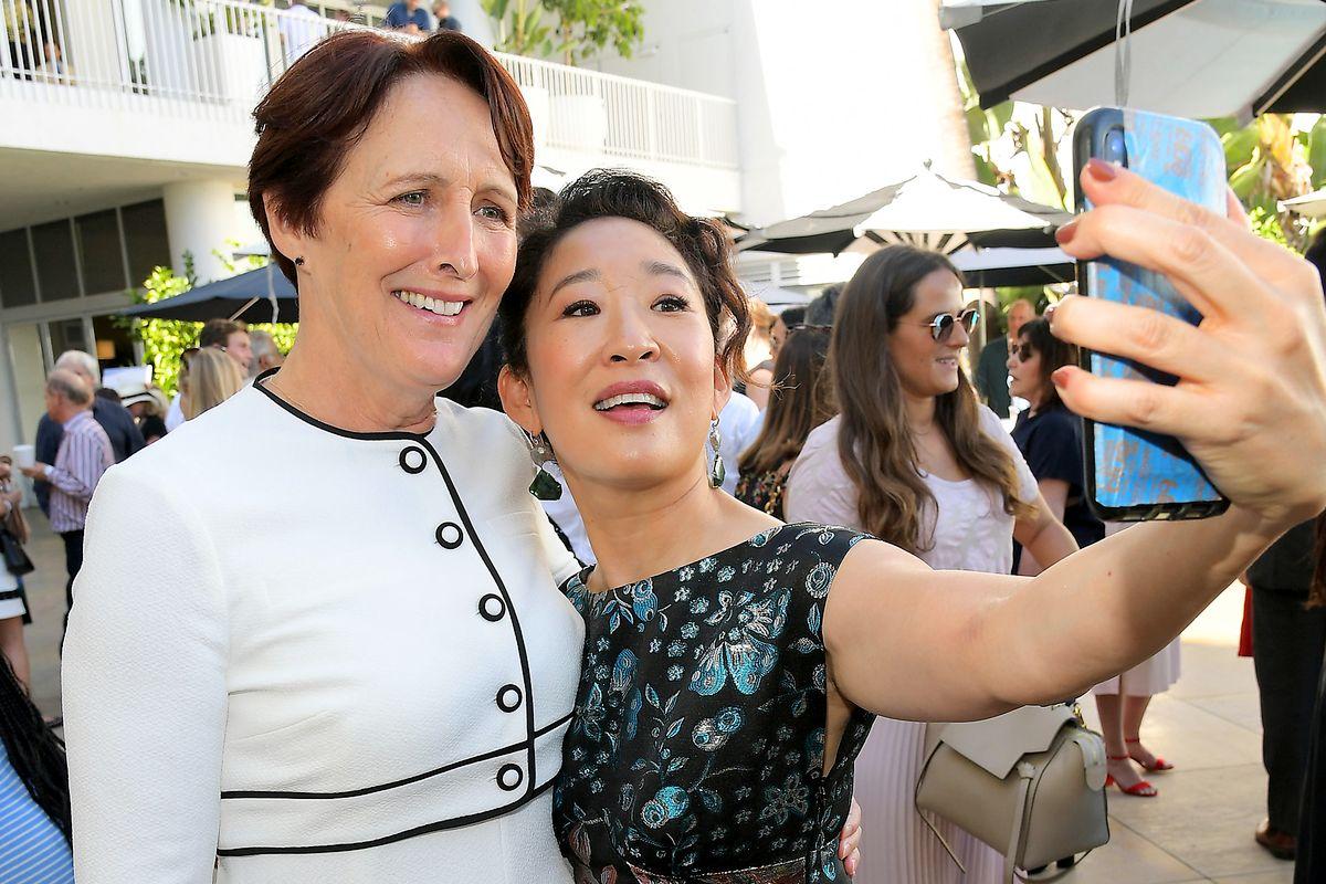 Фиона Шоу, Сандра О на вечеринке BAFTA Los Angeles + BBC America TV Tea Party
