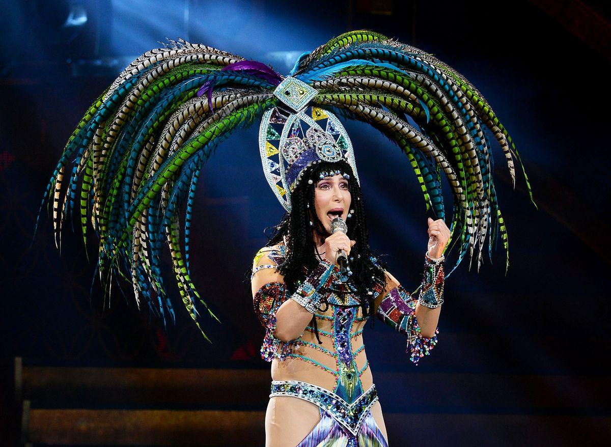 Певица Шер выступает на MGM Grand Garden Arena