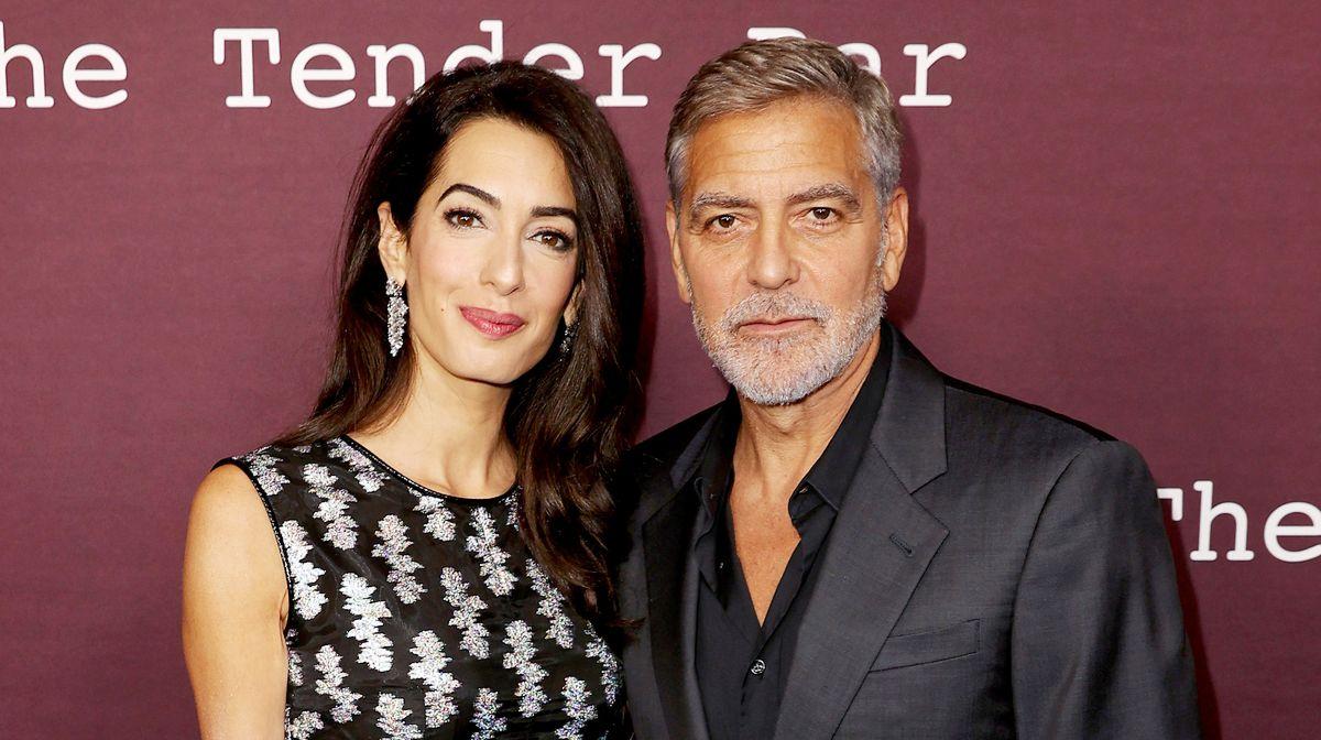 Джордж и Амаль Клуни на премьере фильма «Нежный бар» в Лос-Анджелесе