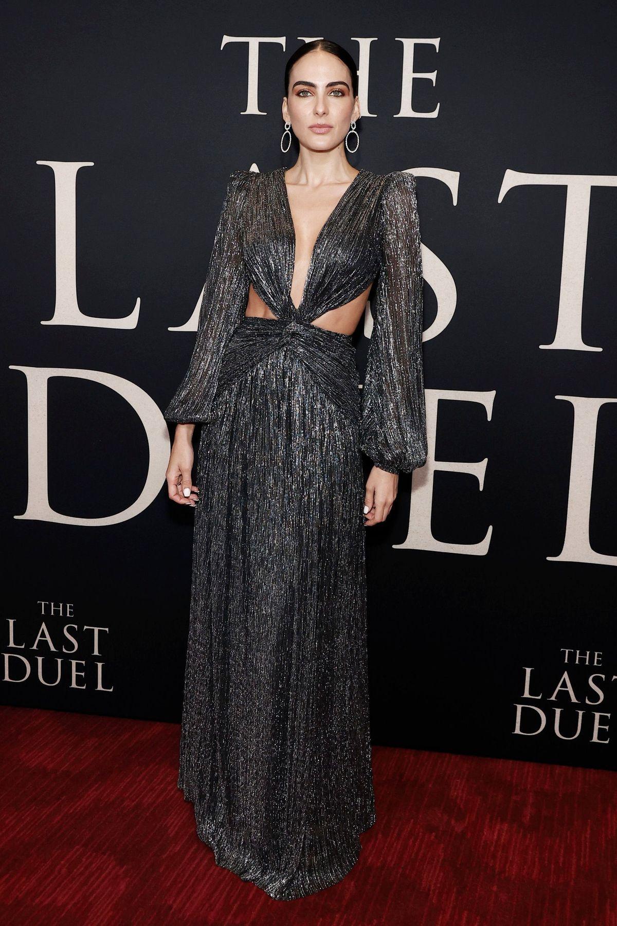 Даниэла Ботеро на премьере фильма «Последняя дуэль»